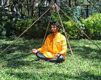 Copper Giza Lite Duty 6 feet Meditation Pyramid for Self Healing Free Shipment To USA