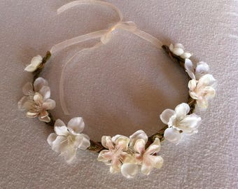 Spring Bouquet Collection - White Cherry Blossom Flower Crown
