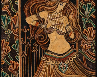 Syrinx 11x14 Fine Art Print Pagan Mythology Bohemian Belly Dance Gypsy Goddess Art