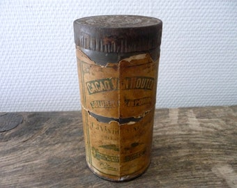 Box metal old Van Houten vintage advertising box metal box chocolate cocoa powder Van Houten