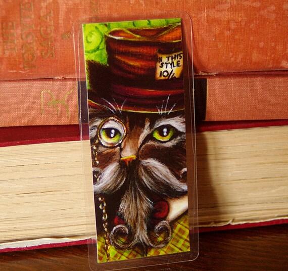 Mad Hatter Cat Alice in Wonderland Bookmark