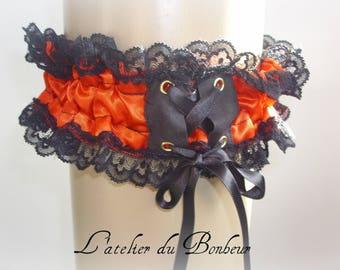 Gothic Duchess satin garter