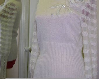 "Jumper ""Special charm"",white,delicate ,warm ,elegant , fashion , actual"