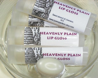 Plain Lip Balm-Unscented-Lip Gloss-Moisturizing-Oval tube
