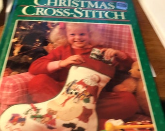 Vintage Better Homes and Gardens Christmas Cross-Stitch Craft Book - Hardcover - 1987