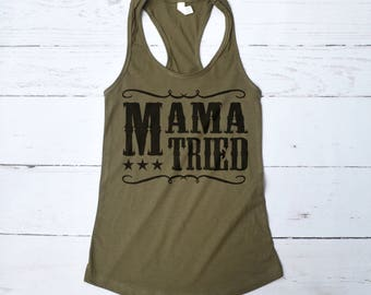 Mama Tried Country Shirt, Country Music Shirt, Blame it All on My Roots, Country Festival Tank Top, Hell on Heels Tee