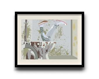 Trainspotting minimalist poster, Trainspotting digital art poster, Framed print, Matted print, Mounted print