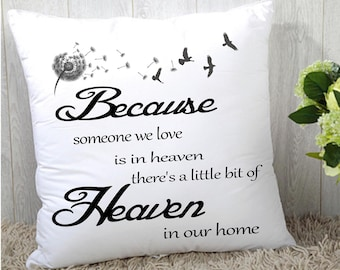 """Remembrance Memory cushion cover 16""""x16"""" (40cmx40cm) gift"""