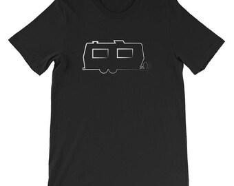 Camper Trailer T-shirt- Camping T-shirt-Vintage Camper- Trailer-Glamping Shirt-Gypsy Soul-Vacation T-shirt-Funny Camping Gift-Trailer Trash