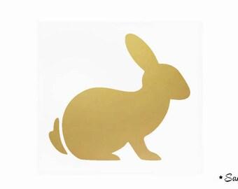 fusible applique Bunny gold matte