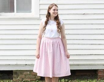 Polka Dot Skirt: You're Making Me Blush