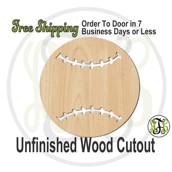 Baseball / Softball - 60031- School Spirit Cutout, unfinished, wood cutout, wood craft, laser cut shape, wood cut out, Door Hanger, wooden