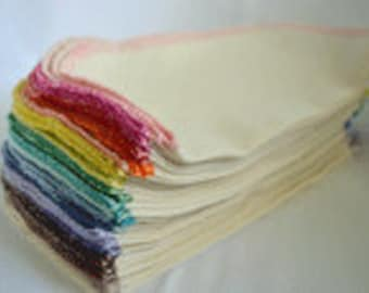 SECONDS 1PLY 8x8 inches Organic Baby Wipes, Napkins or Washcloths, Pack of 10 - Great Bargain