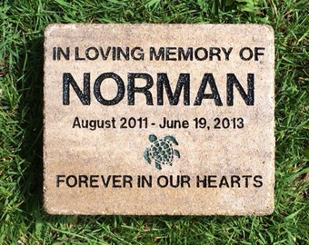7 X 8 engraved turtle memorial (Add your own personal engravings for free)