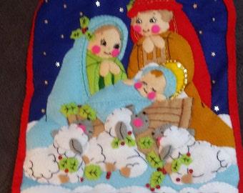 "Bucilla ""Silent Night"" Nativity Wallhanging"