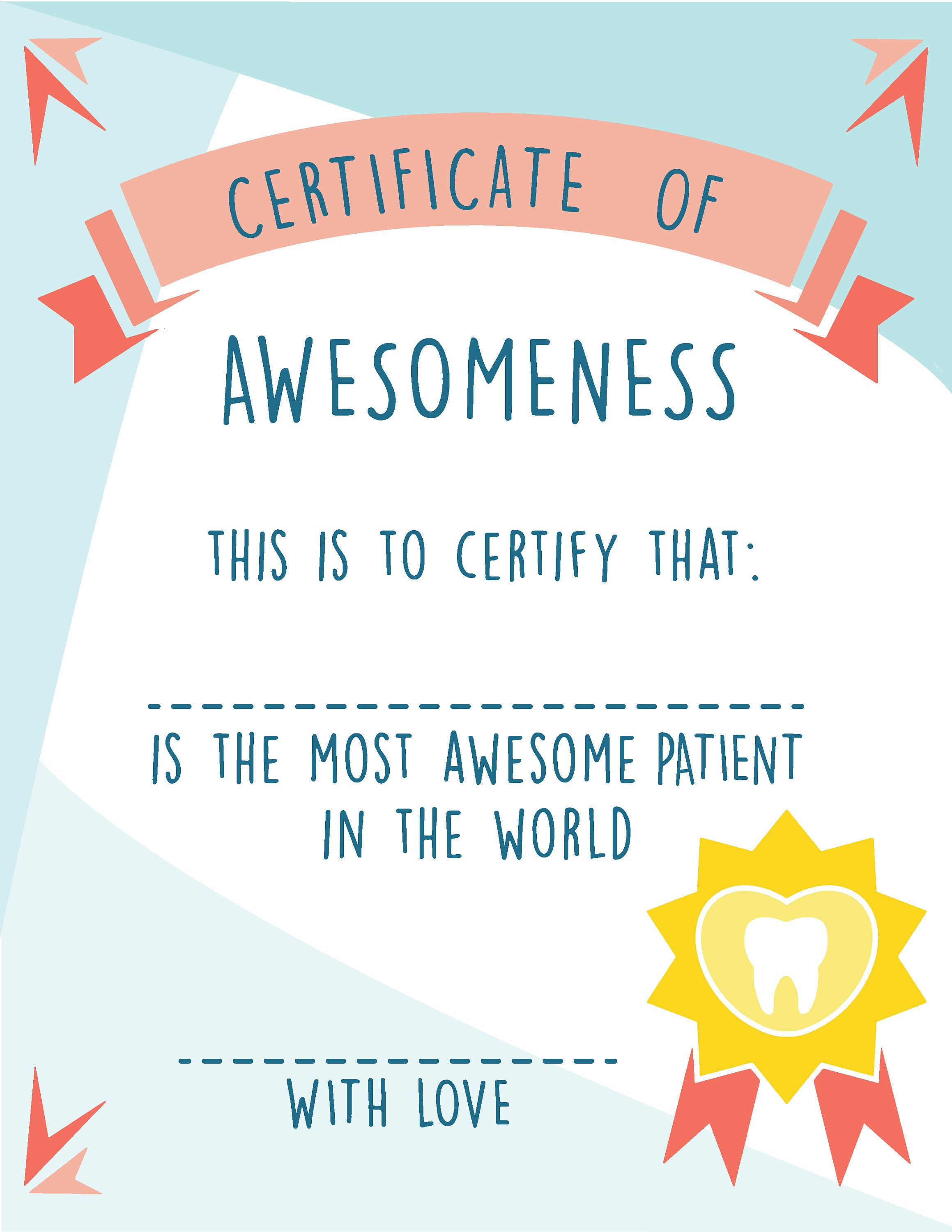 Colorful Certificate Of Awesomeness Vorlage Illustration ...