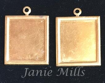 Frames brass stampings vintage pkg of 4