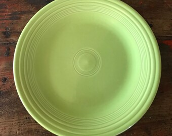 Fiestaware Chartreuse Dinner Plate 10.5  Contemporary Retired Fiesta Lime Green & Fiesta chartreuse | Etsy