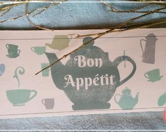 BON APPETIT decorative plate