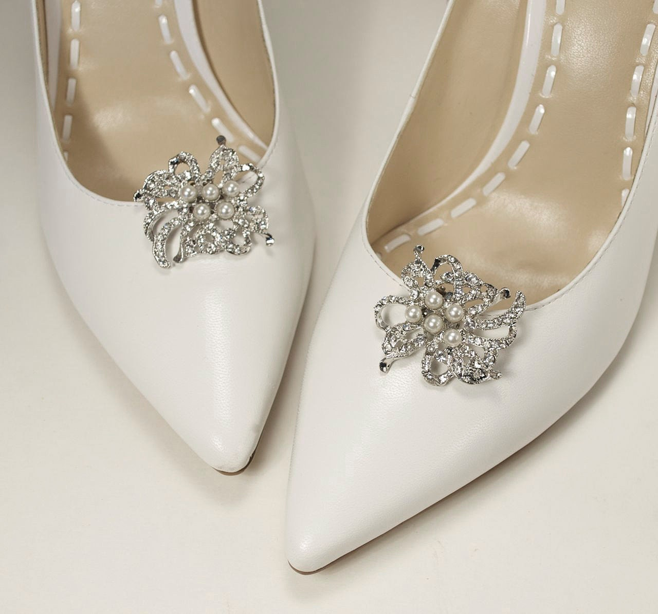 Bridal shoe clips wedding shoe clips crystal shoe clips zoom junglespirit Image collections