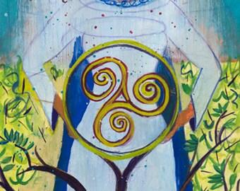 Pagan Goddess Art - Danu, Celtic Mother Goddess