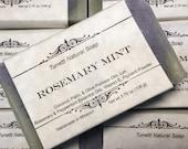 Rosemary Mint Soap, Handm...