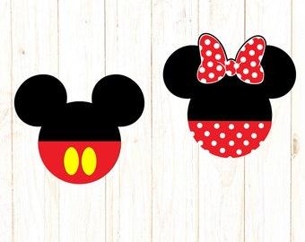 Mickey Minnie svg, Mickey Minnie head, Disney svg Disney dxf, Mickey silhouette, Mouse svg, Mickey dxf