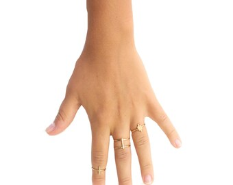 ELEMENTS II - Gold plated Verticality ring (EHBA02)