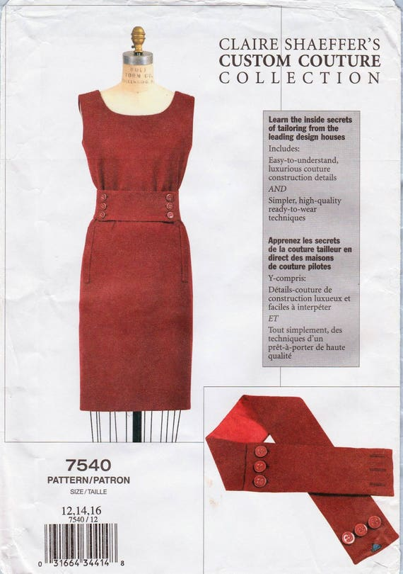 Vogue 7540 / Custom Couture Sewing Pattern By Claire Shaeffer ...
