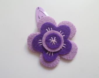 """Felicia"" Flora Collection felt hair clip"