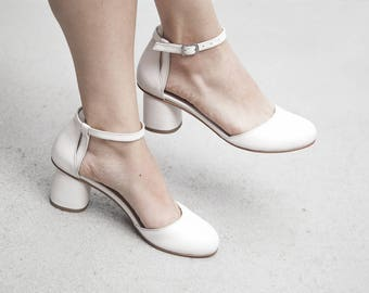 NORMA - White Leather - FREE SHIPPING Handmade Leather Shoes 2018 Summer Collection