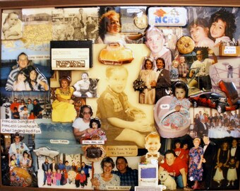 "Birthday 3D Photo Collage by Collagery (18""x24"" shown)"