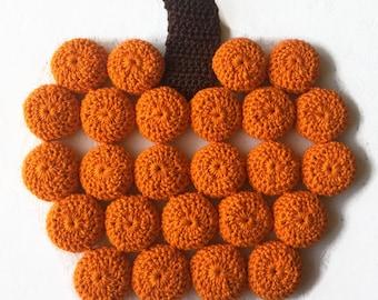 Pumpkin Trivet / Pumpkin Hot Pad / Crochet Pumpkin Trivet / Bottle Cap Trivet