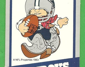 Dallas Cowboys - 1983 NFL Huddles Collectible Football Card from Avon