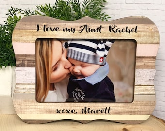 We Love You Auntie Personalized Frame, Aunt Gift, Personalized Picture Frame, Personalized Aunt, Aunt Frame, Auntie Frame,