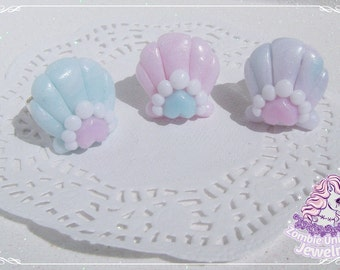 Crystal Mermaid rings lolita fairy kei pastel