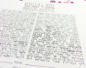 Bilingual Ketuba Watercolor Painting - Hebrew names calligraphy Abstract painting Jewish wedding Ketuba Marriage certificate - THE KETUBAH