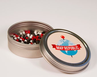 100 Extra Push Pins for your Map Republic map