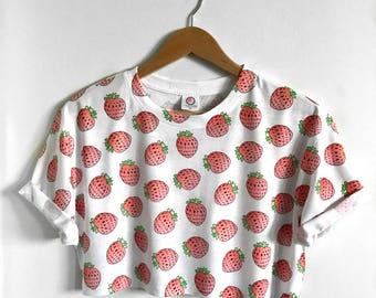 Strawberry Crop Top