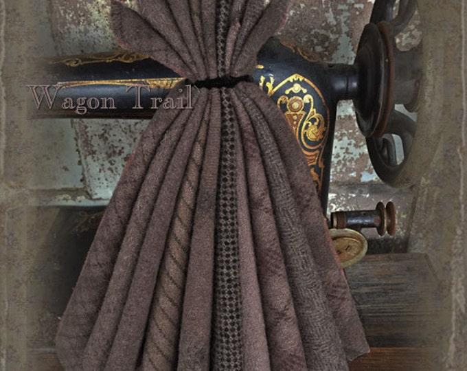 "Wool Bundle: MF Woolens Bundle of 10 pieces - 6 1/2"" x 8"" - Wagon Trail"
