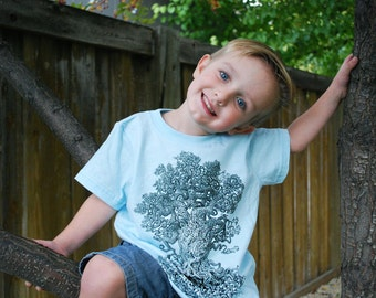 Gnarled Tree Children's Clothing - Kids Tee - Tree Shirt - Boy Gift - Tree Art - Children's Gift - Tree of Life Shirt