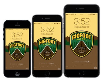 Bigfoot Patrol Wallpaper/Background/Lock Screen for iPhone 5/5c/5s/6/6 Plus & Android