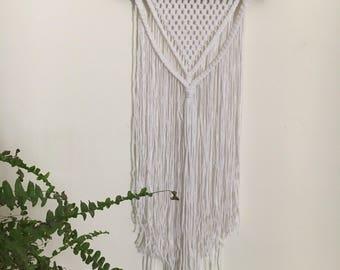 Macrame wall hanging - White Macrame wall hanging - medium