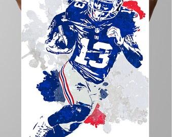 Fan art poster, Odell Beckham Jr. New York Giants Poster, Wall art, Sports Poster, Fan art, Wall Art, Sports art, Sports Print, Kids Decor