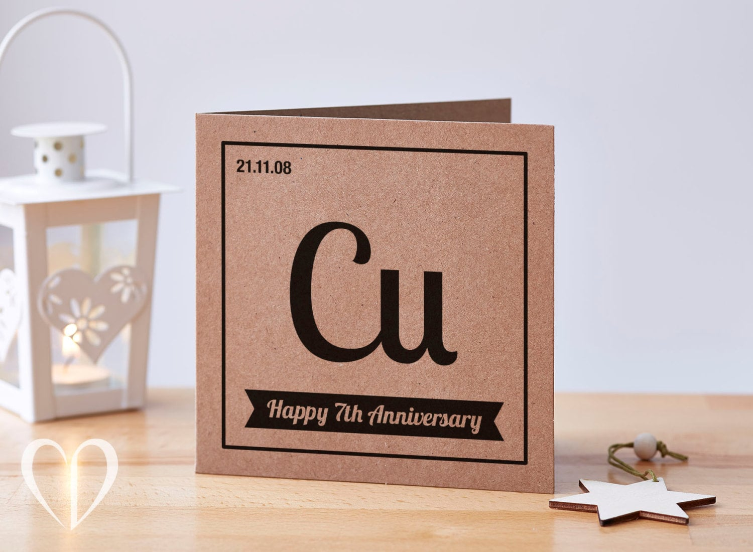Personalised year anniversary card th anniversary card