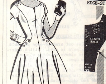 PATT-O-RAMA 8273 Mail Order Dress 1950s Fashion for Evening Parties