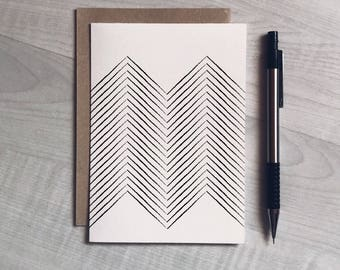 Geometric greeting card, christmas card, any occasion, birthday, modern, minimalist, Scandinavian style, unisex, card for him, card for her