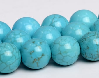"8MM Mint Blue Turquoise Beads Grade AAA Gemstone Full Strand Round Loose Beads 15"" BULK LOT 1,3,5,10 and 50 (102559-542)"