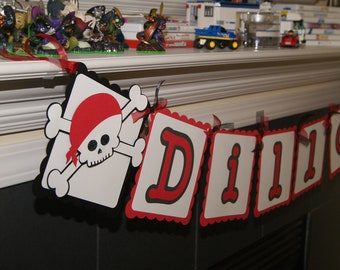 Pirate Personalized Name Banner