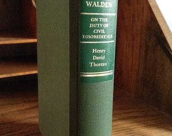 Walden by Henry David Thoreau Vintage Hardcover Book, Memoir, transcendentalist, Walden Pond, Simple Living, Nature, Life in the Woods